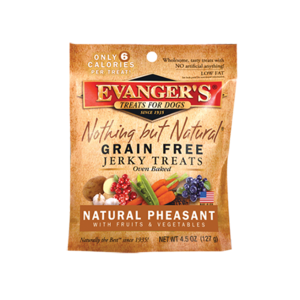 Evanger's Nothing But Natural Grain Free Jerky Treats Natural Pheasant With Fruits & Vegetables