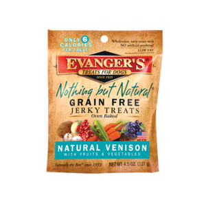 Evanger's Nothing But Natural Grain Free Jerky Treats Natural Venison With Fruits and Vegetables
