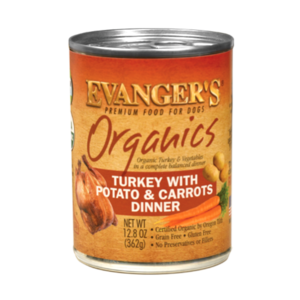 Evanger's Organics Turkey With Potato and Carrots Dinner