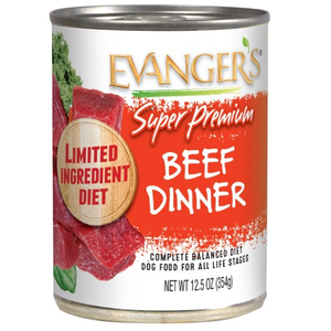 Evanger's Super Premium Wet Food Beef Dinner For Dogs With Spinach and Kale