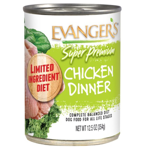 Evanger's Super Premium Wet Food Chicken Dinner For Dogs With Spinach & Kale
