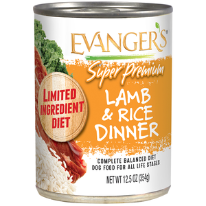 Evanger's Super Premium Wet Food Lamb & Rice Dinner For Dogs With Spinach & Kale