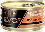 Evo 95% Animal Protein Chicken & Turkey Recipe In Gravy