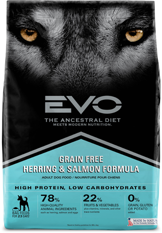 Evo Grain Free Dry Dog Food Herring & Salmon Formula