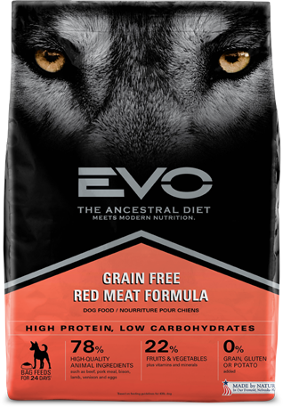 Evo Grain Free Dry Dog Food Red Meat Formula