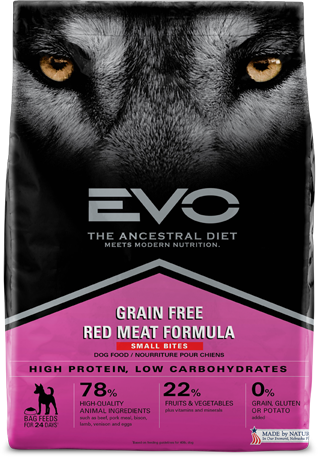 Evo Grain Free Dry Dog Food Red Meat Formula - Small Bites
