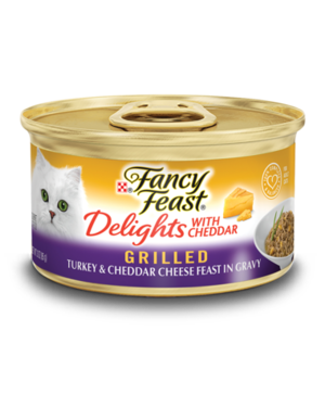 Fancy Feast Delights With Cheddar Grilled Turkey & Cheddar Cheese Feast In Gravy