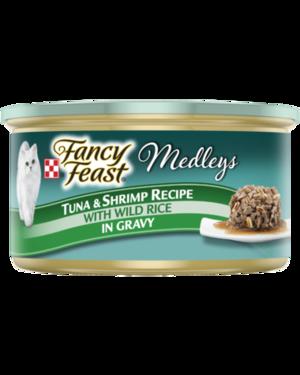 Fancy Feast Medleys Tuna & Shrimp Recipe With Wild Rice In Gravy