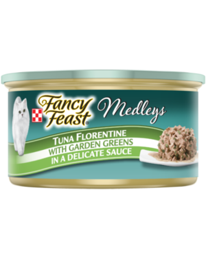 Fancy Feast Medleys Tuna Florentine With Garden Greens In A Delicate Sauce