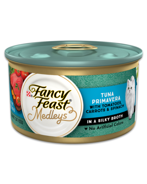 Fancy Feast Elegant Medleys Tuna Primavera With Garden Veggies and Greens In A Classic Sauce