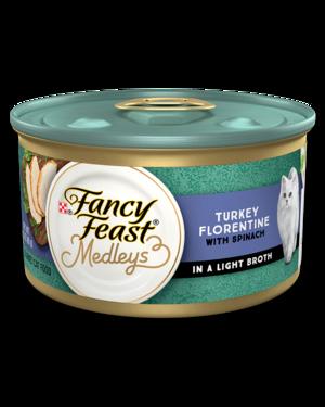 Fancy Feast Medleys Turkey Florentine With Garden Greens In A Delicate Sauce