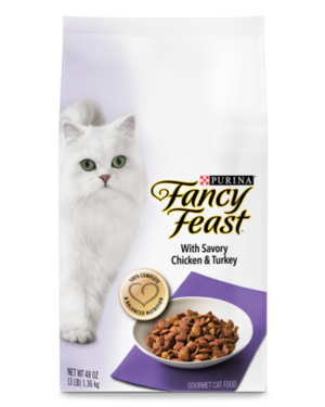 Fancy Feast Gourmet Dry With Savory Chicken & Turkey