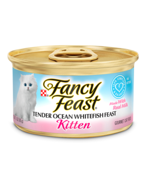 Fancy Feast Gourmet Kitten Food Tender Ocean Whitefish Feast