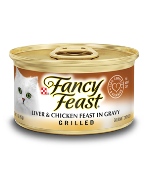 Fancy Feast Grilled Liver & Chicken Feast In Gravy