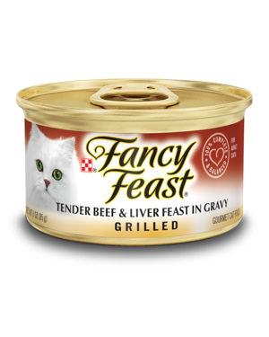 Fancy Feast Grilled Tender Beef & Liver Feast In Gravy