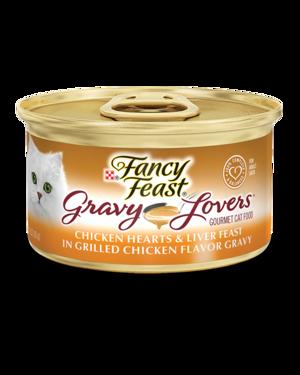 Fancy Feast Gravy Lovers Chicken Hearts & Liver Feast In Grilled Chicken Flavor Gravy