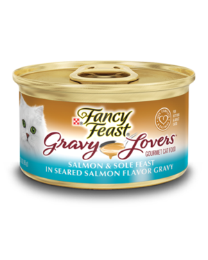 Fancy Feast Gravy Lovers Salmon & Sole Feast In Seared Salmon Flavor Gravy