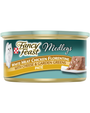 Fancy Feast Medleys White Meat Chicken Florentine With Cheese & Garden Greens Pate