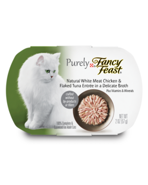 Fancy Feast Purely Natural White Meat Chicken & Flaked Tuna Entree In A Delicate Broth