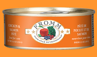 Fromm Four-Star Nutritionals Chicken and Salmon Pate For Cats