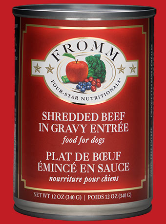 Fromm Four-Star Nutritionals Shredded Beef In Gravy Entree