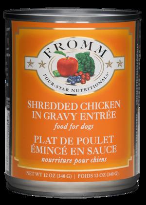 Fromm Four-Star Nutritionals Shredded Chicken In Gravy Entree