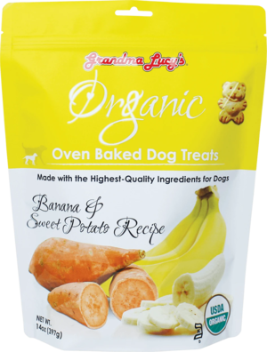 Grandma Lucy's Organic Oven Baked Dog Treats Banana & Sweet Potato Recipe