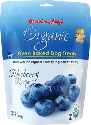 Grandma Lucy's Organic Oven Baked Dog Treats Blueberry Recipe