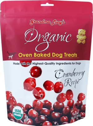 Grandma Lucy's Organic Oven Baked Dog Treats Cranberry Recipe