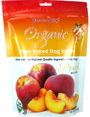 Grandma Lucy's Organic Oven Baked Dog Treats Peach Recipe