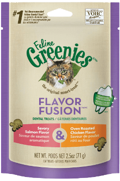 Greenies Flavor Fusion Dental Treats Savory Salmon Flavor & Over-Roasted Chicken Flavor