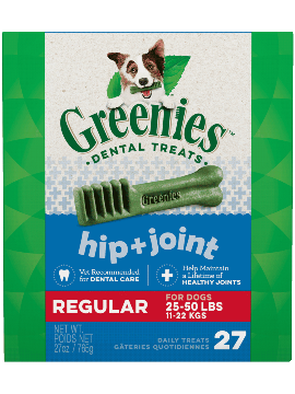 Greenies Hip + Joint Regular Dental Treats