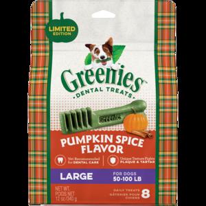 Greenies Pumpkin Spice Flavor Large Dental Treats