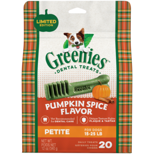 Greenies Pumpkin Spice Flavor Petite Dental Treats