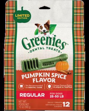 Greenies Pumpkin Spice Flavor Regular Dental Treats