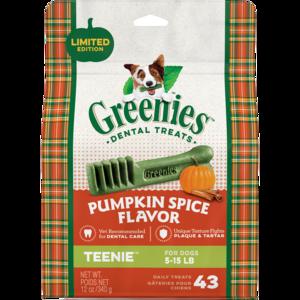 Greenies Pumpkin Spice Flavor Teenie Dental Treats
