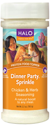 Halo Protein Food Topper Dinner Party Sprinkle Chicken and Herb Seasoning