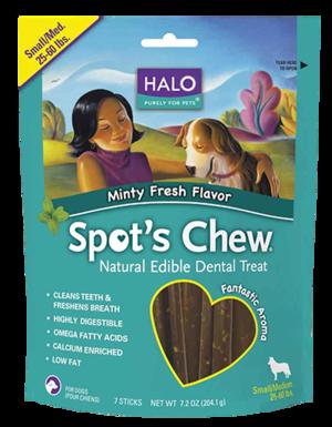 Halo Spot's Chew - Small/Medium Minty Fresh Flavor