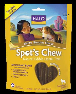Halo Spot's Chew - Small/Medium Nutty Banana Flavor