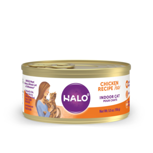 Halo Grain Free Indoor Cat Chicken Recipe Pate