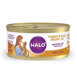 Halo Grain Free Indoor Cat Turkey & Duck Recipe Pate