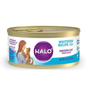 Halo Grain Free Indoor Cat Whitefish Recipe Pate
