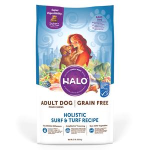 Halo Grain Free Adult Dog Holistic Surf & Turf Recipe