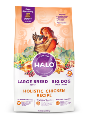 Halo Spot's Stew Large Breed Formula Wholesome Chicken Recipe