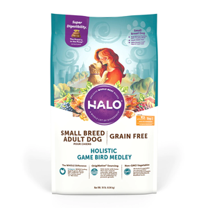 Halo Grain Free Small Breed Dog Holistic Game Bird Medley