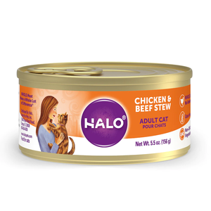Halo Spot's Stew Grain Free Adult Cat Chicken & Beef Recipe