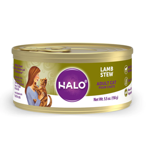 Halo Spot's Stew Grain Free Adult Cat Lamb Recipe