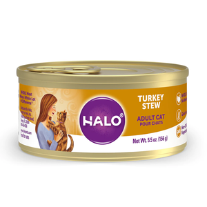 Halo Spot's Stew Grain Free Adult Cat Turkey Recipe