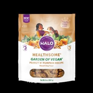 Halo Healthsome Vegan Dog Treats With Peanut n' Pumpkin (low-fat)