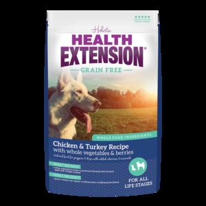 Health Extension Grain Free Dry Dog Food Chicken Turkey Recipe